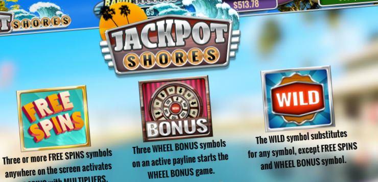 Jackpot Shores pays screen