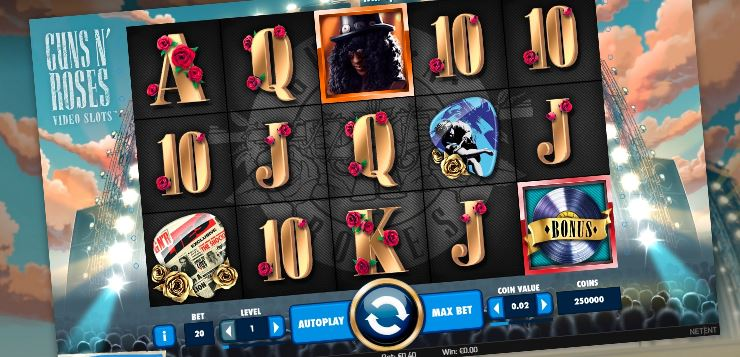 play guns and roses online slot