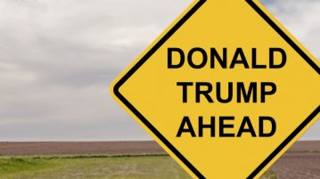 donald trump road sign