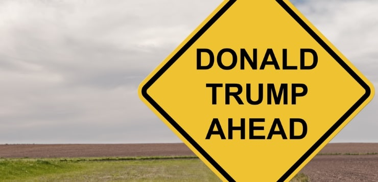 donald trump road sign