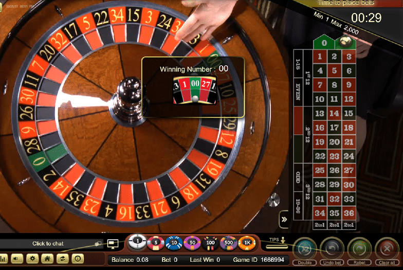 NJ live dealer roulette overhead view