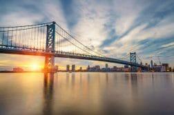 Bridge from New Jersey to Pennsylvania
