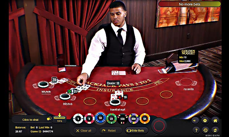 Live Dealer BlackJack - Golden Nugget