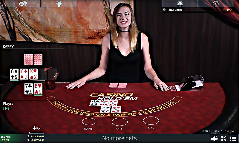 Live Dealer Casino Hold'em - Golden Nugget