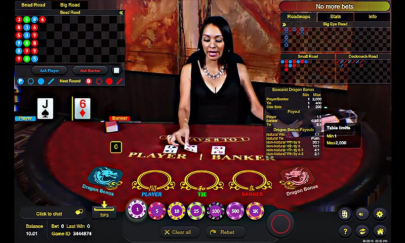 Live Dealer Dragon Baccarat - Borgata