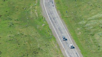 Car in passing lane