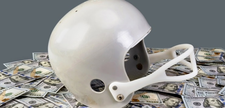 helmet and money