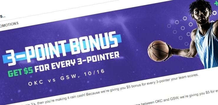 FanDuel 3-Point Bonus