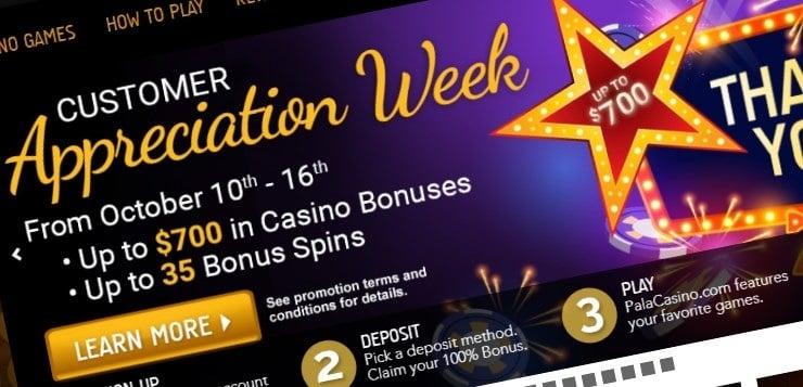 Pala Casino NJ Customer Appreciation Week