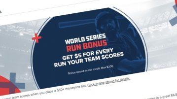 World Series Run Bonus FanDuel