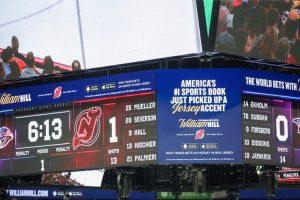 prudential center scoreboard william hill advertisement