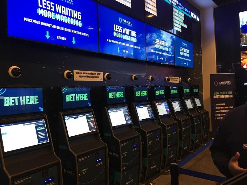 Eight FanDuel betting kiosks