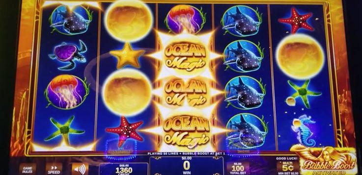 ocean magic slot machine screen