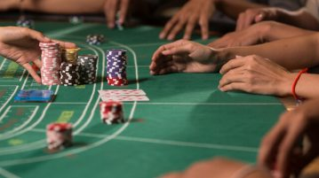baccarat table chips cards