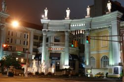 caesars atlantic city entrance night