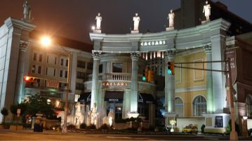 caesars atlantic city entrance night