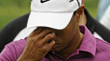 tiger woods unhappy