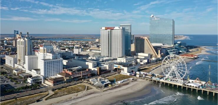atlantic city boardwalk aerial
