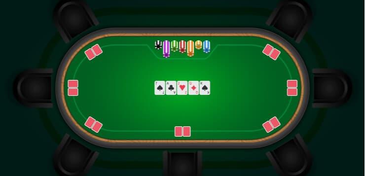 online poker table