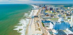 atlantic city boardwalk shoreline