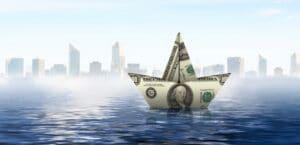 money boat floating