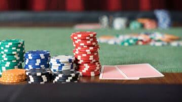 poker chips table