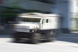 armored car blurred