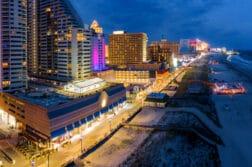 atlantic city aerial night