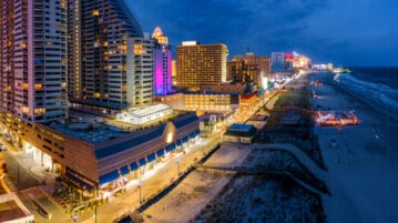 atlantic city aerial night