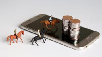 cell phone horses coins