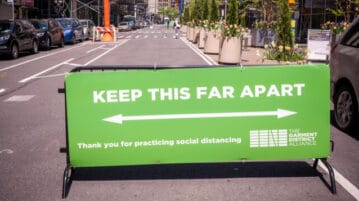 new york city social distancing sign