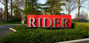 Rider University sign