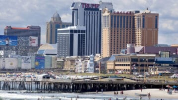 atlantic city with trump tower
