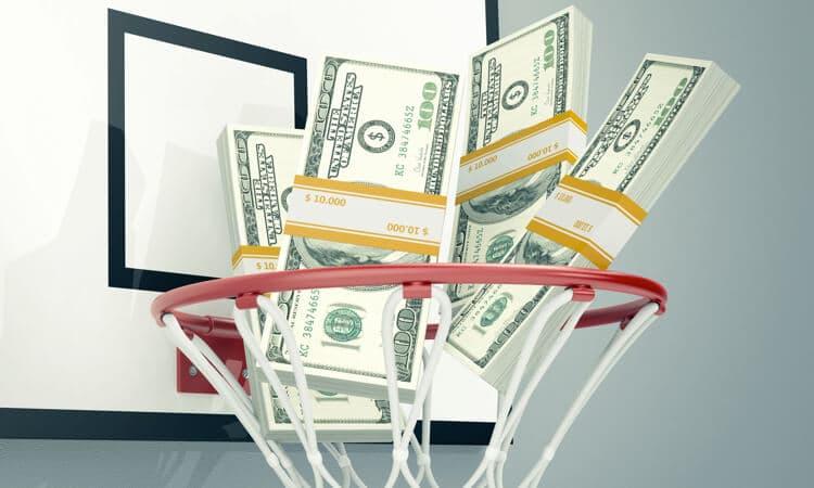 money basketball hoop