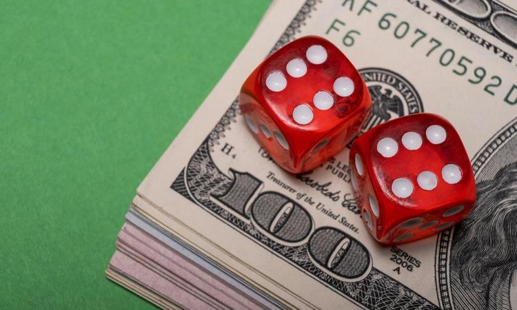 dice on money