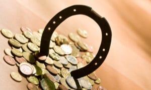 horseshoe with money